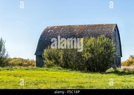 In my childhood these structures were the pride and joy of prairie farmers. Now only a few remain - Stock Photo