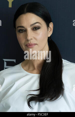 Mexico City, Mexico. 1st Nov, 2015. Italian actress Monica Bellucci poses during the photocall to promote new James - Stock Photo