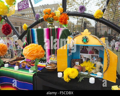 Day of the Dead Festival in the Kensington section of Brooklyn; NY; Nov.1; 2015. - Stock Photo