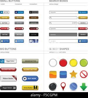 Web Design Button Element - Stock Photo