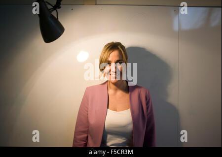 Tania Sanchez, Spanish politician, in Madrid, Spain. - Stock Photo