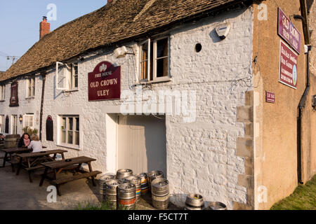 Old Crown pub in Uley, Gloucestershire, UK - Stock Photo