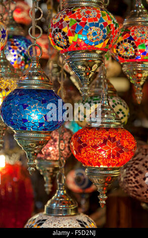 Art lamps in the souvenir shop of hundertwasser stock for Turkey country arts and crafts