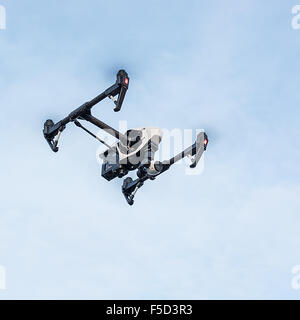 Zrenjanin, SERBIA: October 2015, Image of the Dji Inspire 1 drone UAV quadcopter which shoots 4k video and 12mp - Stock Photo