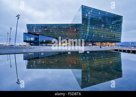 Harpa Concert Hall and Conference Center, Reykjavik, Iceland - Stock Photo
