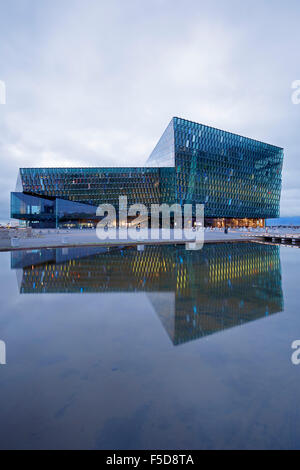 Harpa Concert Hall and Conference Center, Reykjavik, Iceland - Stock Photo