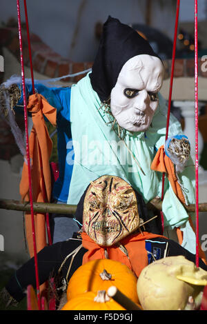 Scary faces for Halloween, Southport, Merseyside, UK - Stock Photo