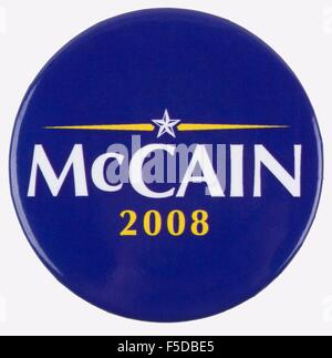 2008 United States presidential campaign button pin for republican candidate John McCain - Stock Photo