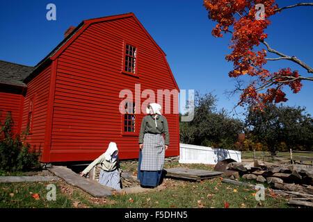 Costumed Interpreter, Old Sturbridge Village, Sturbridge, Massachusetts - Stock Photo