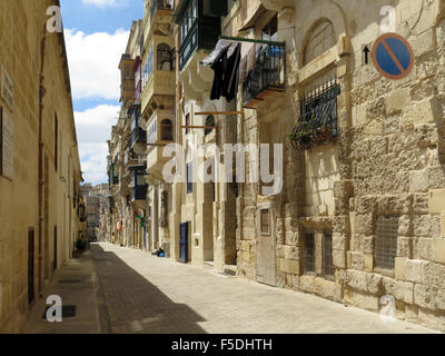Balconies in Valletta, Malta - Stock Photo