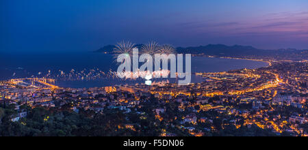 Firework in Cannes - Stock Photo