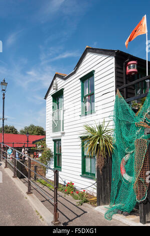 Seafront house, Old Leigh, Leigh-on-Sea, Essex, England, United Kingdom - Stock Photo