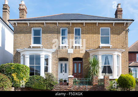 Victorian semi-detached houses, Leigh Hill, Leigh-on-Sea, Essex, England, United Kingdom - Stock Photo