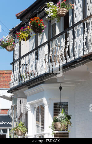 Period house with balcony, Leigh Hill, Leigh-on-Sea, Essex, England, United Kingdom - Stock Photo