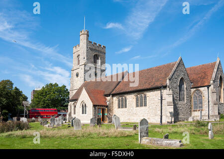 Parish Church of St Clement's, Leigh-on-Sea, Essex, England, United Kingdom - Stock Photo