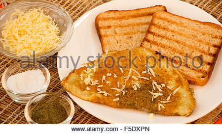 Cheese Omelette - Stock Photo