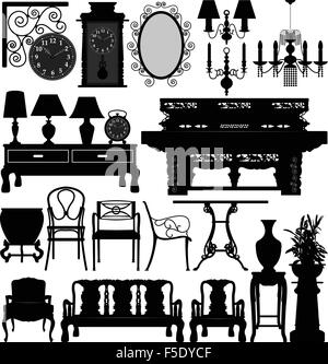 Antique Old Furniture Home House - Stock Photo