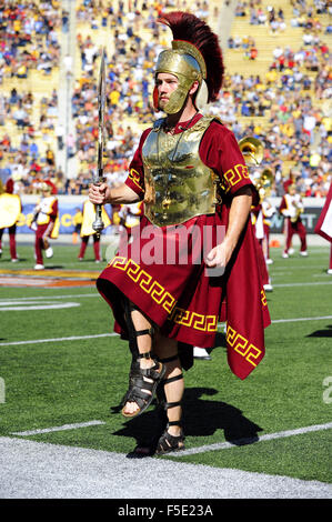Berkley, CA. 31st Oct, 2015. The mascot of the USC Trojans in action during a 27-21 victory over the Cal Bears at - Stock Photo