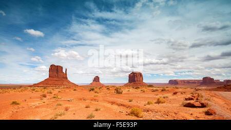 Panoramic photo of Monument Valley Navajo Tribal Park, Utah, USA. - Stock Photo