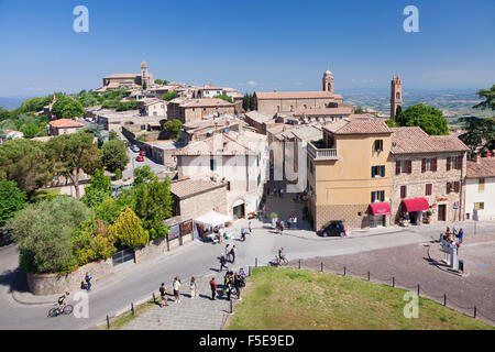Montalcino, Val d'Orcia (Orcia Valley), Siena Province, Tuscany, Italy, Europe - Stock Photo