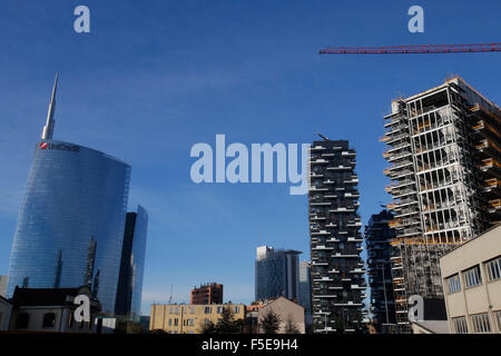 Buildings near Porta Nuova, Milan, Lombardy, Italy, Europe - Stock Photo