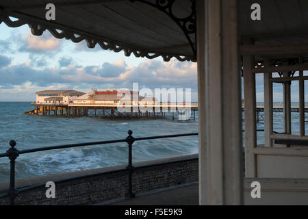 A view of Cromer pier, Norfolk, England, United Kingdom, Europe - Stock Photo
