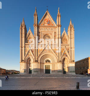 View of Santa Maria Cathedral, Orvieto, Terni District, Umbria, Italy, Europe - Stock Photo