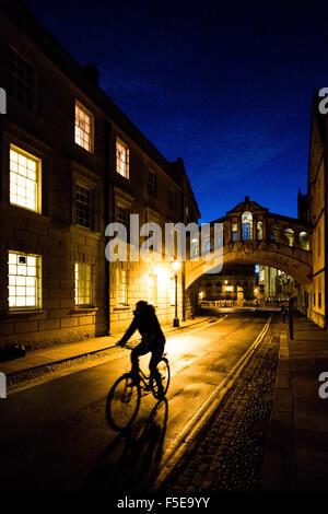 Bridge of Sighs, Oxford, Oxfordshire, England, United Kingdom, Europe - Stock Photo