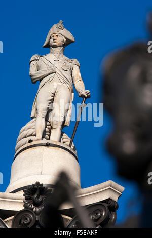 Nelson's Column, Trafalgar Square, London, England, United Kingdom, Europe - Stock Photo