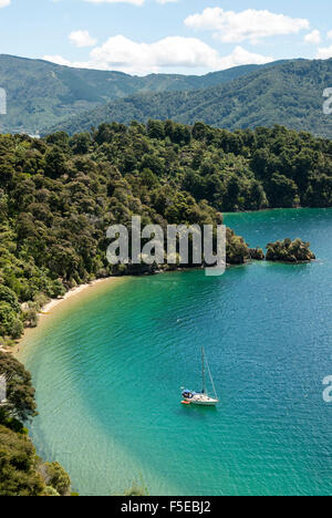 Okiwa Bay, Marlborough Sounds, South Island, New Zealand, Pacific - Stock Photo