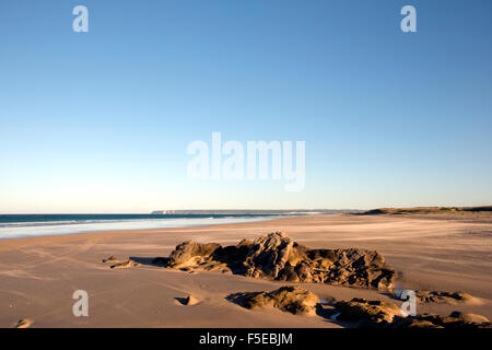 Miles of deserted beaches on the coast between Barbate and Zahara de los Atunes in Andalucia, Spain, Europe - Stock Photo