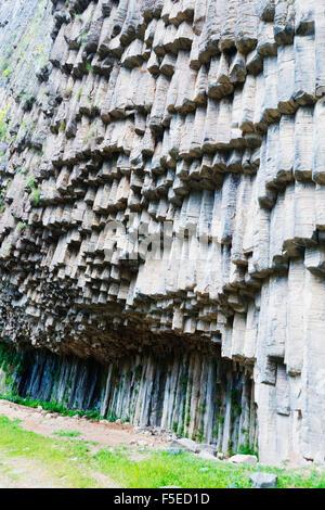 Symphony of Stones basalt columns, UNESCO World Heritage Site, Garni, Kotayk Province, Armenia, Caucasus, Central - Stock Photo
