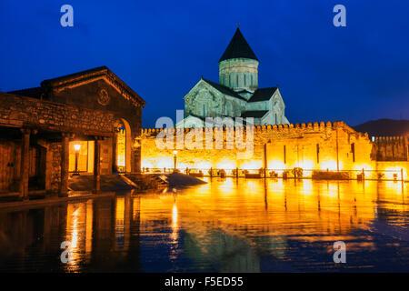 Svetitskhoveli Cathedral, 11th century, by Patriach Melkisedek, Mtskheta, historical capital, UNESCO, Georgia, Caucasus, - Stock Photo