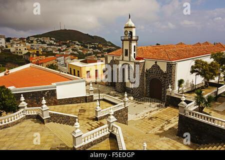 Iglesia Santa Maria de la Concepcion, Valverde, El Hierro, Canary Islands, Spain, Europe Stock Photo