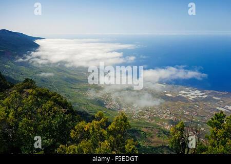 Las Puntas and El Golfo Bay, seen from Tibataje, El Hierro, Canary Islands, Spain, Atlantic, Europe Stock Photo