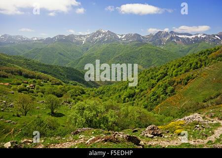 Fuente De, Picos de Europa, Parque Nacional de los Picos de Europa, Asturias, Cantabria, Spain, Europe - Stock Photo