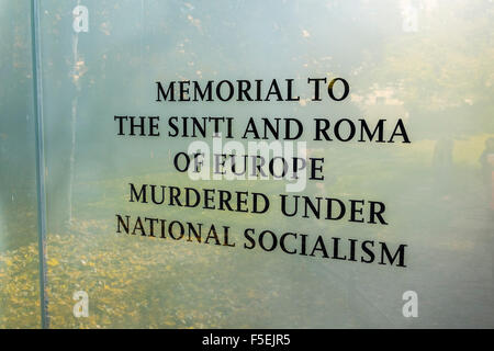 Memorial to Murdered Sinti and Roma People, Mitte, Berlin, Germany - Stock Photo