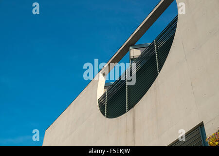 Detail of modernist architecture, Chancellery building, Berlin, Germany - Stock Photo