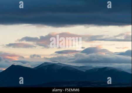 Mountain view in Rondane, Norway - Stock Photo