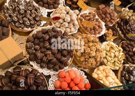 Lviv, Ukraine, the Lviv chocolate factory in the wul Serbska - Stock Photo