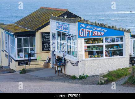 The Most Southerly Gift Shop, Lizard Point, Lizard Peninsula, Cornwall, England, UK - Stock Photo