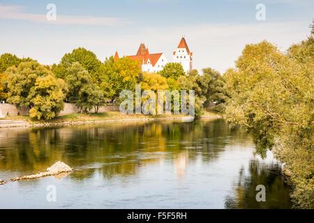 INGOLSTADT, GERMANY - OKTOBER 3: Neues Schloss  in Ingolstadt, Germany on Oktober 3, 2015. The New Castle in Ingolstadt - Stock Photo