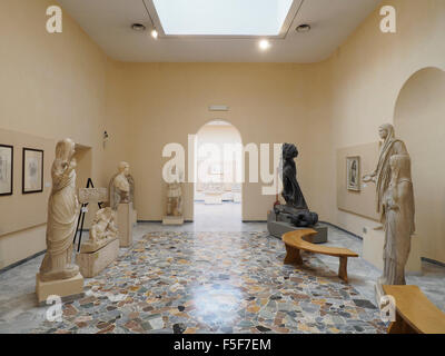 Roman sculpture on display in the Ostia Antica museum, Italy - Stock Photo