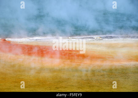 Waiotapu colorful thermal lake, Waiotapu Thermal Wonderland, Rotorua, North Island, New Zealand - Stock Photo