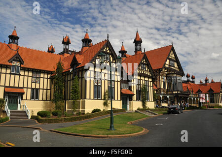 Rotorua Museum of Art and History, Government Gardens, Rotorua, North Island, New Zealand - Stock Photo