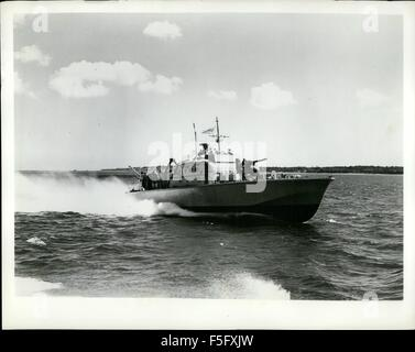 1972 - A new class of patrol boats believed to be the fastest warships in the world today, is beige introduced into - Stock Photo