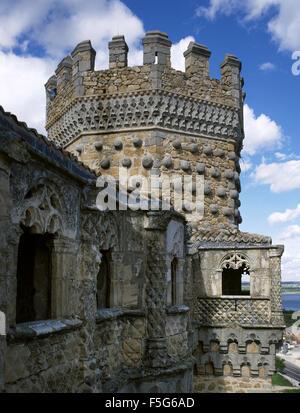 Spain. Manzanares El Real. New Castle of Manzanares el Real. Built in 1475 by Diego Hurtado de Mendoza, son of the - Stock Photo