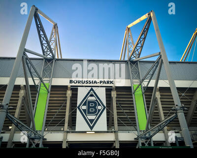 Football staidum Borussia Park in Monchengladbach - Stock Photo