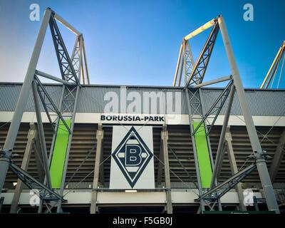 Football staidum Borussia Park in Monchengladbach - Stock Photo