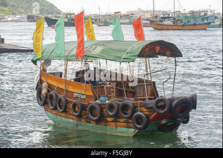 Sampan in Aberdeen fishing village, Hong Kong, Hong Kong - Stock Photo